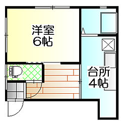 丸金アパート[202号室]の間取り