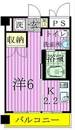 パークフラッツ松戸[4階]の間取り