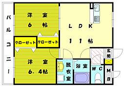 コリーナベルデ2[3階]の間取り