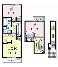 ハナミズキ[3階]の間取り