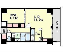 プラウドフラット隅田リバーサイド[6階]の間取り