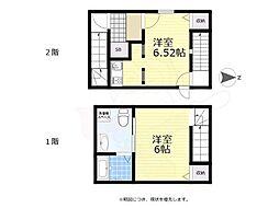京王線 八幡山駅 徒歩6分の賃貸マンション 2階1LDKの間取り