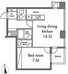レジディアタワー麻布十番[3階]の間取り