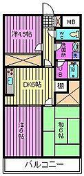 ゆざわマンション[303号室]の間取り