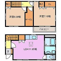 [一戸建] 三重県鈴鹿市岸岡町 の賃貸【/】の間取り