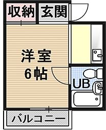 NorteMu1[205号室号室]の間取り