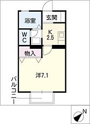 アンシャンテ[1階]の間取り