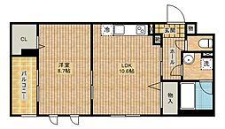 フェリチターレ[2階]の間取り