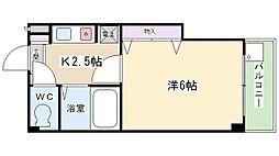 スタジオM[407号室]の間取り