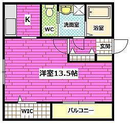 広島県広島市南区青崎1丁目の賃貸アパートの間取り