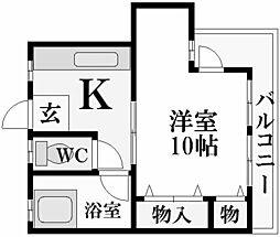 マンション香枦園[4階]の間取り