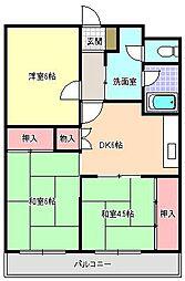 ファーストハイツ駒川[6階]の間取り