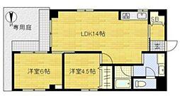 ローレルハイツ[1階]の間取り