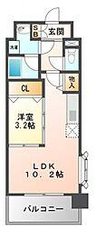 パークレジデンス江坂[2階]の間取り