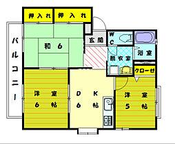 コーポ弐番館[2階]の間取り