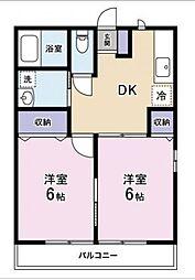 静岡県富士宮市杉田の賃貸アパートの間取り