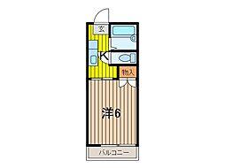 メゾンムサシ[2階]の間取り