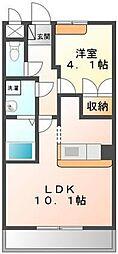 埼玉県鶴ヶ島市中新田の賃貸アパートの間取り