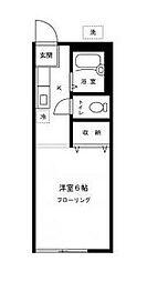 東京都中野区東中野4丁目の賃貸アパートの間取り