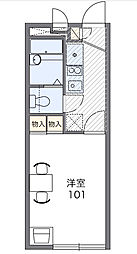 中田北A[2階]の間取り