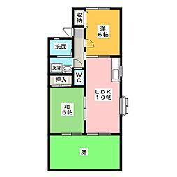 ベルクハイム[1階]の間取り