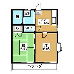 レジデンス小松島[2階]の間取り