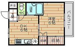 アプローズ吉野[4階]の間取り