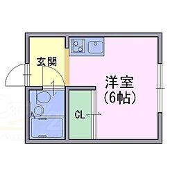 アネシス田村[2階]の間取り