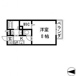 プラサート小阪[102号室号室]の間取り