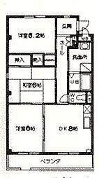 WAVE HOUSE[105号室]の間取り