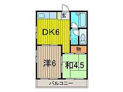 笹屋マンション[302号室]の間取り