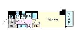 ファーストステージ江戸堀パークサイド[1階]の間取り