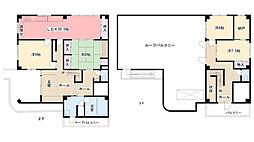 竹内ビル[2F3F号室]の間取り