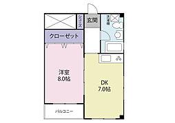 東勢ハウス[4階]の間取り