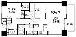 メイプルガーデン梅田 6階2LDKの間取り