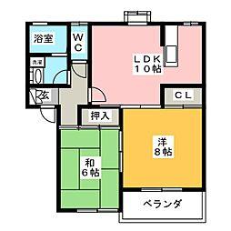 リラックスA[2階]の間取り