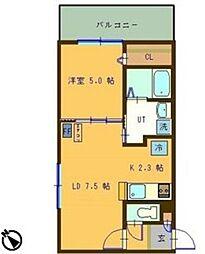 札幌市営東西線 円山公園駅 徒歩9分の賃貸マンション 6階1LDKの間取り
