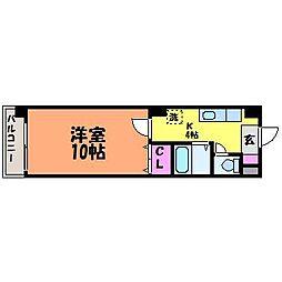 愛媛県松山市清水町1丁目の賃貸マンションの間取り