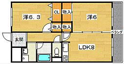 カーサ・クボ[2階]の間取り