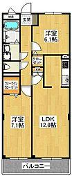 ボナール西山台[1階]の間取り