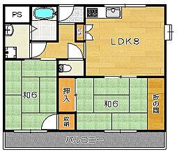 東山ハイツ[401 b号室]の間取り