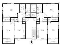 コーポ桂III[A202号室号室]の間取り