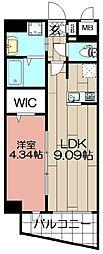 LAZO kiyokawa[1101号室]の間取り