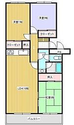 蜆塚ハイム[A105号室]の間取り