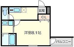 フジパレス東淡路[1階]の間取り