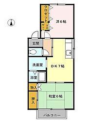 愛知県清須市新清洲5丁目の賃貸アパートの間取り