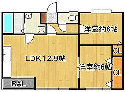 フラワースポット[4階]の間取り