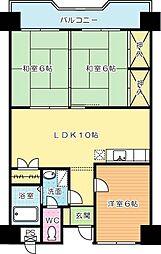 第3泰平ビル[708号室]の間取り