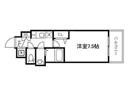 Osaka Metro堺筋線 天神橋筋六丁目駅 徒歩6分の賃貸マンション 3階1Kの間取り