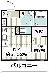 JR京浜東北・根岸線 大船駅 徒歩1分の賃貸マンション 4階1DKの間取り